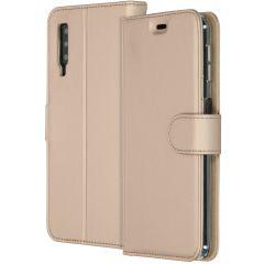 Accezz Étui de téléphone Wallet Samsung Galaxy A7 (2018) - Dorée