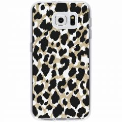 Coque design Samsung Galaxy S6 - Panther Gold