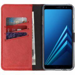 Selencia Étui de téléphone en cuir véritable Samsung Galaxy A8 (2018)