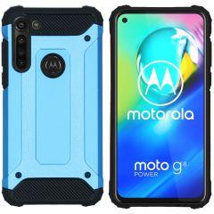 iMoshion Coque Rugged Xtreme Motorola Moto G8 Power - Bleu clair