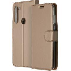 Accezz Étui de téléphone Wallet Motorola Moto G8 Power - Dorée