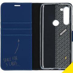 Accezz Étui de téléphone Wallet Motorola Moto G8 Power - Bleu