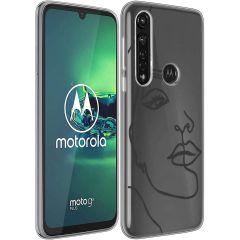 iMoshion Coque Design Motorola Moto G8 Power - Line Art Woman