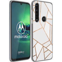 iMoshion Coque Design Motorola Moto G8 Power - Graphic - Blanc