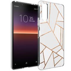 iMoshion Coque Design Sony Xperia 10 II - White Graphic
