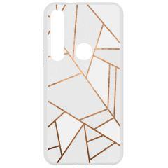 Coque design Motorola Moto G8 Plus - White Graphic