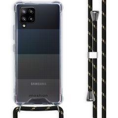 iMoshion Coque avec cordon Samsung Galaxy A42 - Noir / Dorée