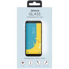 Selencia Protection d'écran en verre durci Galaxy J4 Plus / J6 Plus