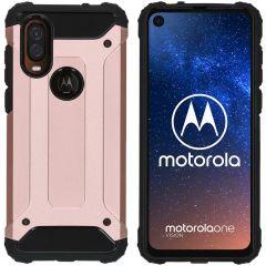 iMoshion Coque Rugged Xtreme Motorola One Vision - Rose Champagne