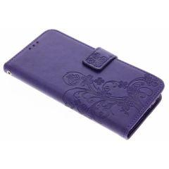 Etui de téléphone Fleurs de Trèfle Motorola Moto G5 Plus