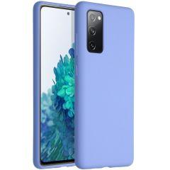 Accezz Coque Liquid Silicone Samsung Galaxy S20 FE - Violet