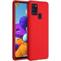 Accezz Coque Liquid Silicone Samsung Galaxy A21s - Rouge