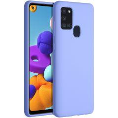 Accezz Coque Liquid Silicone Samsung Galaxy A21s - Violet
