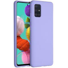 Accezz Coque Liquid Silicone Samsung Galaxy A51 - Violet
