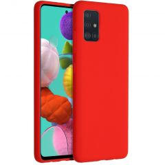Accezz Coque Liquid Silicone Samsung Galaxy A51 - Rouge