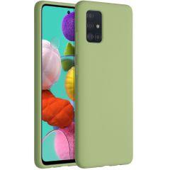 Accezz Coque Liquid Silicone Samsung Galaxy A51 - Vert