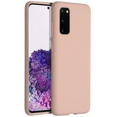 Accezz Coque Liquid Silicone Samsung Galaxy S20 - Rose