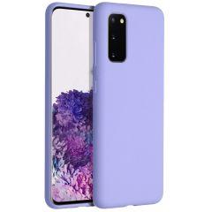 Accezz Coque Liquid Silicone Samsung Galaxy S20 - Violet