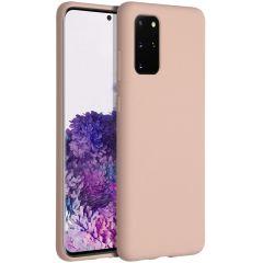 Accezz Coque Liquid Silicone Samsung Galaxy S20 Plus - Rose