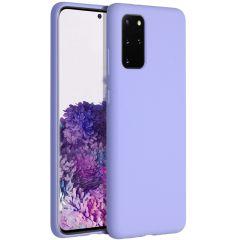 Accezz Coque Liquid Silicone Samsung Galaxy S20 Plus - Violet