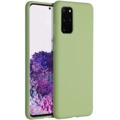 Accezz Coque Liquid Silicone Samsung Galaxy S20 Plus - Vert