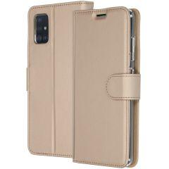 Accezz Étui de téléphone Wallet Samsung Galaxy A51 - Dorée
