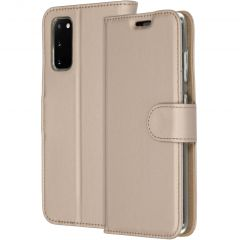 Accezz Étui de téléphone Wallet Samsung Galaxy S20 - Dorée