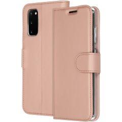 Accezz Étui de téléphone Wallet Samsung Galaxy S20 - Rose Champagne