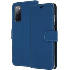 Accezz Étui de téléphone Wallet Samsung Galaxy S20 FE - Bleu foncé