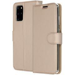 Accezz Étui de téléphone Wallet Samsung Galaxy S20 Plus - Dorée