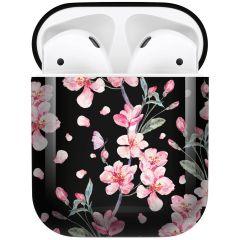 iMoshion Coque Hardcover Design AirPods - Blossom Watercolor Black