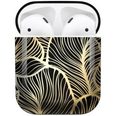 iMoshion Coque Hardcover Design AirPods - Golden Leaves