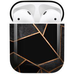 iMoshion Coque Hardcover Design AirPods - Black Graphic