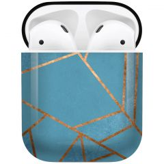 iMoshion Coque Hardcover Design AirPods - Blue Graphic