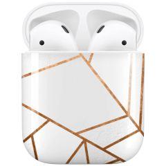 iMoshion Coque Hardcover Design AirPods - White Graphic