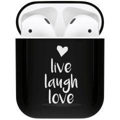 iMoshion Coque Hardcover Design AirPods - Live Laugh Love