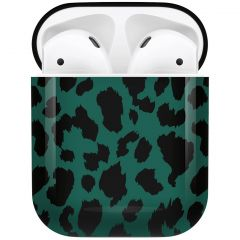 iMoshion Coque Hardcover Design AirPods - Green Leopard
