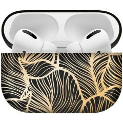 iMoshion Coque Hardcover Design AirPods Pro - Golden Leaves