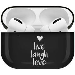 iMoshion Coque Hardcover Design AirPods Pro - Live Laugh Love