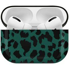 iMoshion Coque Hardcover Design AirPods Pro - Green Leopard