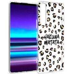 iMoshion Coque Design Sony Xperia 1 II - Leopard - Hakuna Matata