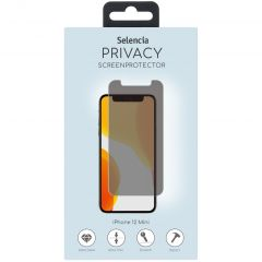 Selencia Protection d'écran en verre Privacy iPhone 12 Mini