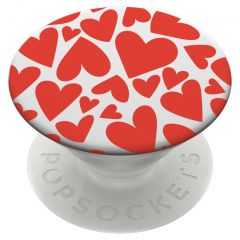 PopSockets iMoshion PopGrip - Red Hearts - White