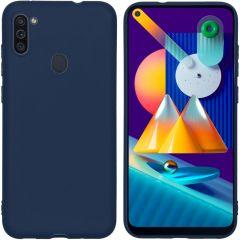 iMoshion Coque Color Samsung Galaxy M11 / A11 - Bleu foncé
