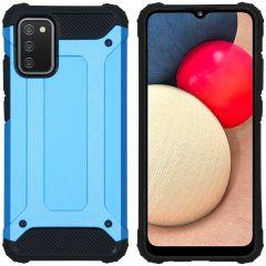 iMoshion Coque Rugged Xtreme Samsung Galaxy A02s - Bleu clair
