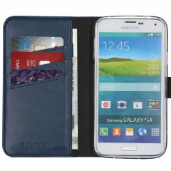 Selencia Étui de téléphone en cuir véritable Galaxy S5 (Plus) / Neo