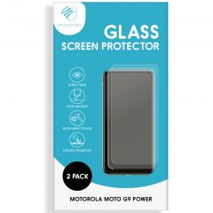 iMoshion Protection d'écran en verre durci 2 pack Moto G9 Power