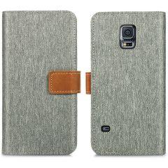 iMoshion Étui de téléphone Canvas Luxe Galaxy S5 (Plus) / Neo - Gris