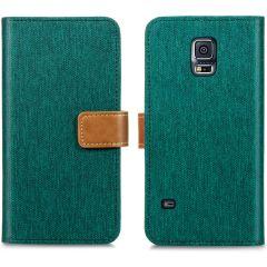 iMoshion Étui de téléphone Canvas Luxe Galaxy S5 (Plus) / Neo - Vert