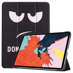 iMoshion Étui à rabat Design Trifold iPad Air (2020) - Don't Touch